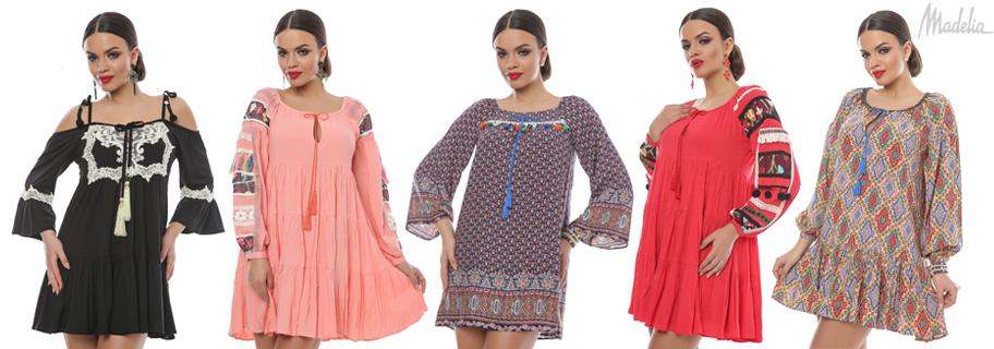 rochii cu volane - colectia pastel